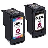 Uoopo Ersetzt für Canon PG-545XL CL-546XL Druckerpatronen Schwarz/Tri-Farbe Kompatibel mit Canon PIXMA iP2850 iP2800 MG2400 MG2450 MG2455 MG2500 MG2550 MG2900 MG2920 MG2950 MG2555 MX495