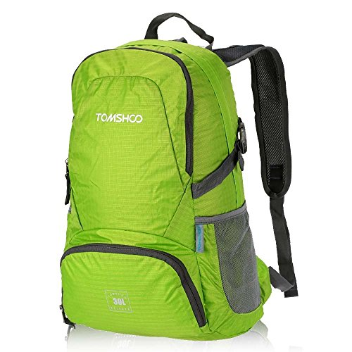 TOMSHOO 30L Outdoor Rucksack Reisen Trekking Faltbare Tasche aus Nylon Wasserabweisend (Tasche Faltbare Nylon)