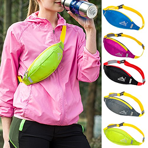 Jogging Radfahren Bergsteigen Wandern Hüfttasche Geldtasche, Wasserdicht und Praktisch Schwarz
