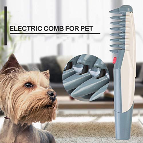MQFORU Cepillo eléctrico Perros Gatos Peine Aseo