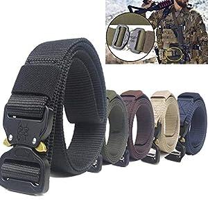 CHOUBAGUAI Taktischer Gürtel Tactical Belt Waistband Heavy Duty Taillengürtel Nylon Military Army Combat Taille Unterstützung Gürteltraining Jagdausrüstung