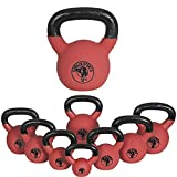 Gorilla Sports Kettlebell Red Rubber 8 kg