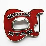 Happy Star® Rot Rock Star Metall Gürtelschnalle mit Bier Flaschenöffner