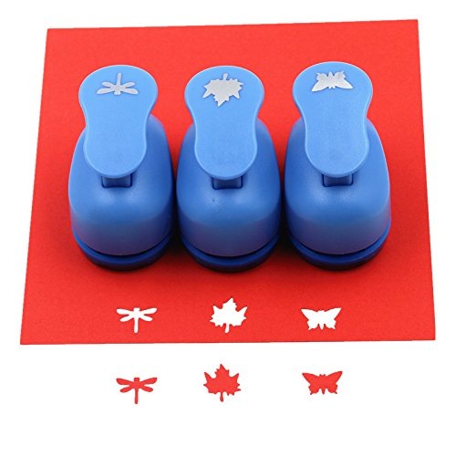 CADY Crafts Punch Set 5/8Zoll Papier Lochpfeifen 3/Set dragonfly. butterfly. Maple leaves -