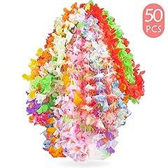 Idea Regalo - Yidaxing Ghirlanda Hawaiana Collana Tropicale Ghirlande Hawaii Hula Multicolori Fiori Ghirlande Addio al Nubilato per Vacanze Matrimoni spiagge Decorazioni di Compleanno(50 Pezzi)