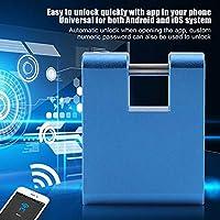 Práctico Bloqueo Inteligente antirrobo Fácil de operar Práctico Seguro y confiable Soporte de Bloqueo para Mochilas Control de la aplicación para Equipaje Viaje de Negocios Hogar(Blue)