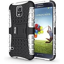Funda Galaxy S5 , Funda S5 Neo, Fetrim Proteccion Cáscara Cases delgada de golpes Doble Capa de Tough Armor Anti-Shock de soporte de Protectora para Samsung Galaxy S5/S5 Neo (Blanco)