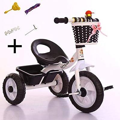 DHSHOP Cochecito de bebé de 1 a 5 años de Edad, con Tres Ruedas, Plegable, con cinturón de Seguridad, Cesta de Almacenamiento (71 x 46 cm)