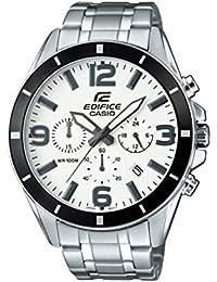 Casio Edifice – Reloj Hombre Analógico con Correa de Acero Inoxidable – EFR-553D-7BVUEF