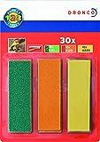 Dronco Nachfüllpack für Mini-Handschleifer, 30 Schleifstreifen (K80, K120 & K220), 678021000