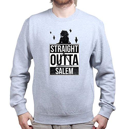 Mens Straight Outta Salem Witch Halloween Sweatshirt 2XL Sports (Salem Halloween An)