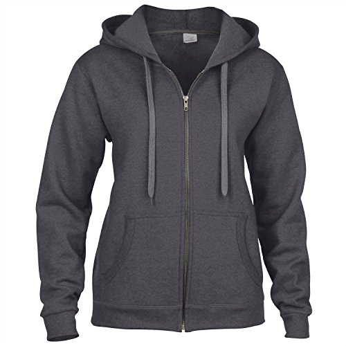 """Gildan Womens HeavyBlend""""¢ vintage full zip hoodie Tweed"""