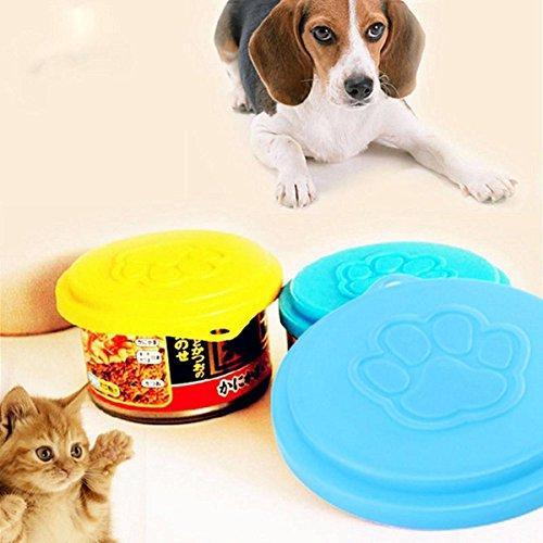 Bazaar Haustier Hund Katzenfutter Cap Flaschenkapselbehälter Verschlussdeckel Pet Zinn Plastik Wiederverwendbare Speicher Cap Top 88m -