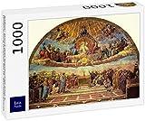 Lais Puzzle Raffaello - Stanza della Segnatura per Giulio II, glorificazione (Disputa) del Sacramento dell'altare Santo 1000 Pezzi