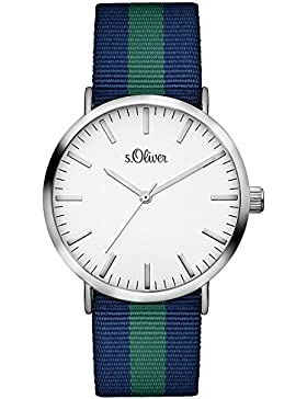 s.Oliver Unisex-Armbanduhr Analog Quarz Textil SO-3105-LQ