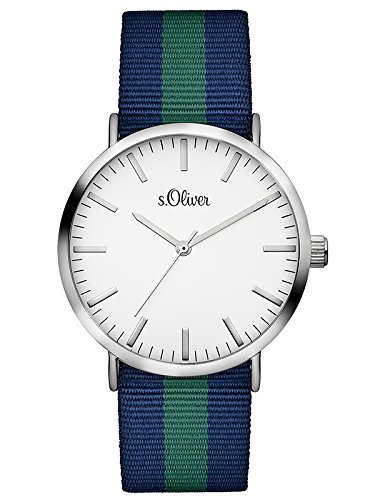 s. Oliver–Bracciale unisex orologio analogico al quarzo, Tessile 3105–LQ