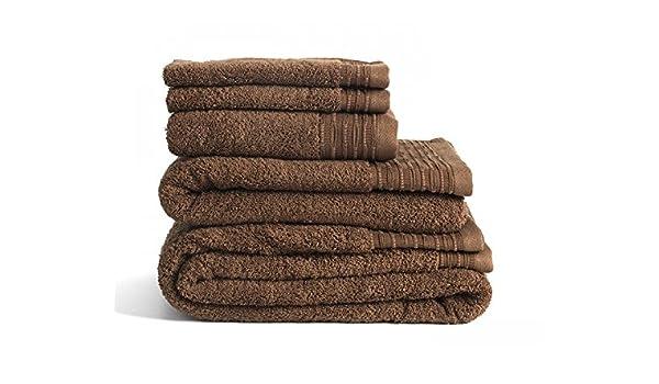 100/% Cotton Soft Face Hand Bath Towels Bath Sheet Bale Set Collection Brown
