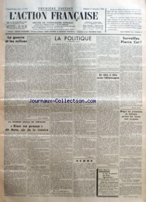 ACTION FRANCAISE (L') [No 255] du 11/09/1936 -...
