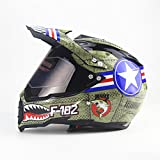 Lidauto Helme Motorrad Motocross Full Face Off Road Racing Profi-Kreuz,M