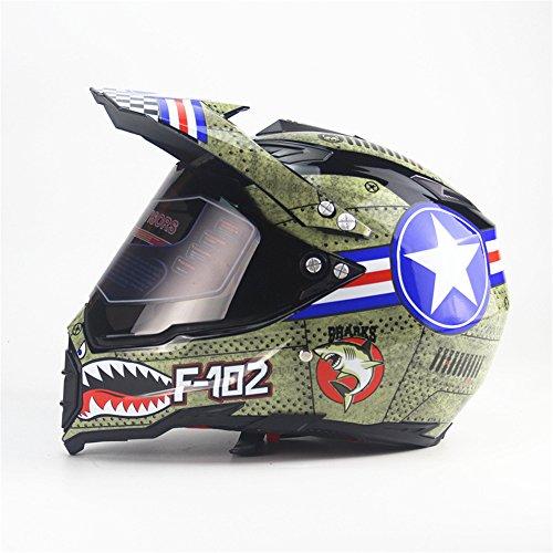 Lidauto Helme Motorrad Motocross Full Face Off Road Racing Profi-Kreuz,M