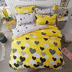 Magnetic Shadow Cotton AC Comforter Duvet Set with Bedsheet, Queen Size (Multicolour, SCFS17)