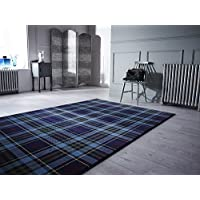Glen Kilry Tartan Quality Modern HeavyWeight Plaid Design Blue Area Rug in 3 Sizes (160 x 230 cm (5'3'' x 7'7'')) by Lord of Rugs