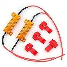 2pcs LED bombillas carga Resistor Señal Fijación 6ohm 50W error Flash parpadeo