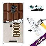 Becool® Fun - Funda Gel Flexible para Bq Aquaris U Plus, [ +1 Protector Cristal Vidrio Templado ] Carcasa TPU fabricada con la mejor Silicona, protege y se adapta a la perfección a tu Smartphone y con nuestro exclusivo diseño. Tableta de chocolate