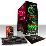 Fierce GOBBLER RGB Gaming PC Bundeln - Schnell 6 x 4.5GHz Hex-Core Intel Core i7 8700K, All-In-One Flüssigkühler, 2TB Seagate FireCuda Solid State Hybrid Drive, 16GB von 2666MHz DDR4 RAM / Speicher, NVIDIA GeForce GTX 1060 6GB, Gigabyte Z370 HD3 Hauptplatine, GameMax Draco with Tickler HD Armour RGB Computergehäuse, HDMI, USB3, Wi - Fi, VR Bereit, Perfekt für High-End-Spiele, Windows nicht Enthalten, Tastatur maus (VK/QWERTY), 3 Jahre Garantie 872782