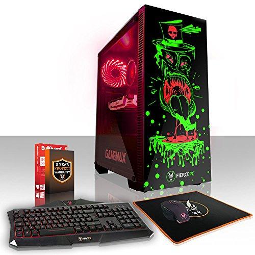 Fierce GOBBLER RGB Gaming PC Bundeln - Schnell 6 x 4.5GHz Hex-Core Intel Core i7 8700K, All-In-One Flüssigkühler, 2TB Seagate FireCuda Solid State Hybrid Drive, 16GB von 2666MHz DDR4 RAM / Speicher, NVIDIA GeForce GTX 1060 6GB, Gigabyte Z370 HD3 Hauptplatine, GameMax Draco with Tickler HD Armour RGB Computergehäuse, HDMI, USB3, Wi - Fi, VR Bereit, Perfekt für High-End-Spiele, Windows nicht Enthalten, Tastatur maus (VK/QWERTY), 3 Jahre Garantie 872782 (Gamer Dual Speicher)