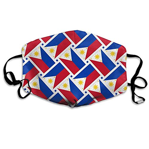 Fashion Outdoor Mouth Mask, Face Masks with Design, Philippines Flag Weave Mouth Mask Washeable Reusable Dust Half Face Mouth Mask for Men Women Dustproof with Adjustable Ear Loops
