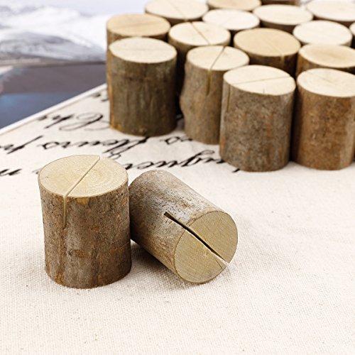 Rustikale Tischkartenhalter aus Holz - 4