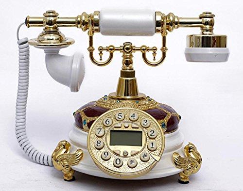 JinRou Contemporanea/antico telefono Vintage classica europea home office telefono fisso (High End Telefoni Cordless)