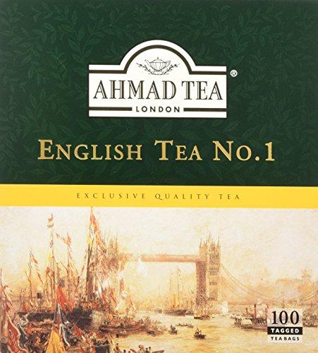 Ahmad Tea - English Tea No 1 | Schwarzteemischung | 100 Teebeutel á 2 g | Teebeutel mit Band (Ahmad Tea English 1)