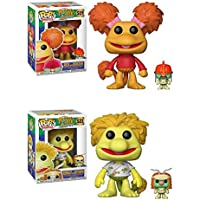 Funko POP! Fraggle Rock: Red with Doozer + Wembley with Cotterpin – Jim Henson Stylized Vinyl Figure Set NEW