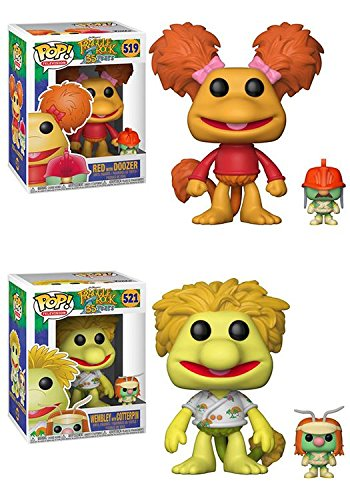 Funko POP Fraggle Rock Red with Doozer Wembley with Cotterpin Jim Henson Stylized Vinyl Figure Set NEW