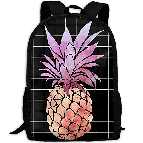 TTmom Schulrucksack,Schüler Bag,Rucksack Damen Herren Tie-dye Pineapple Print Custom Casual School Bag Backpack Multipurpose Travel Daypack -