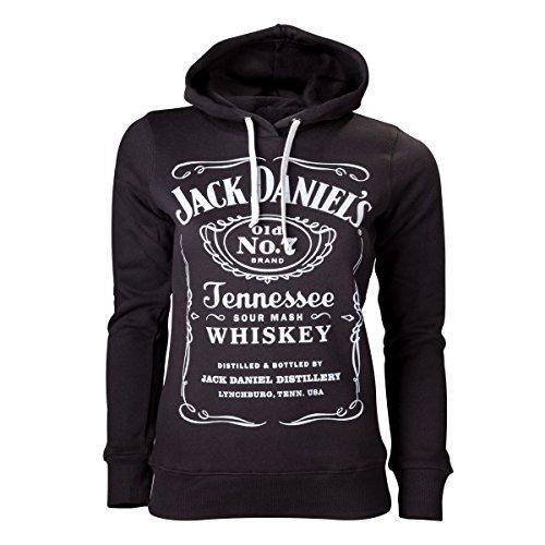 Jack Daniel's Label Felpa donna nero S