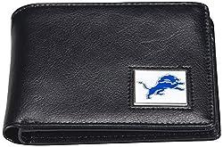 NFL Detroit Lions Men's Leather RFiD Safe Travel Wallet, 4.25 x 3.25