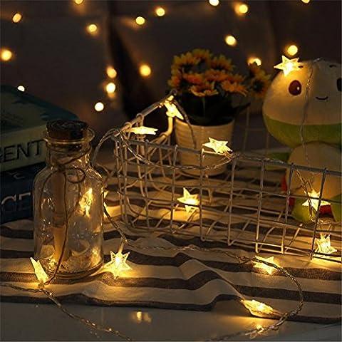 ZYY&LIGHT® Star Lichterketten Vorhang Lichter für Weihnachtsschmuck Hochzeit Weihnachten Mädchen Schlafzimmer Garten Hof Baum Fenster Indoor und Outdoor , 3m-20