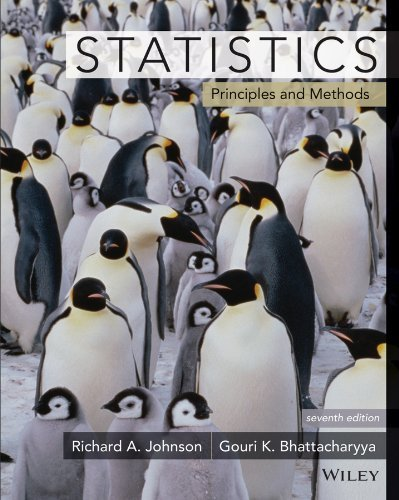 Statistics: Principles and Methods: Written by Richard A. Johnson, 2014 Edition, (7th Edition) Publisher: John Wiley & Sons [Paperback]