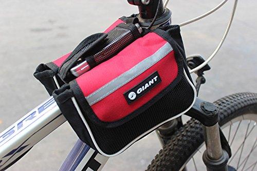Meliya Fahrrad Packungen Rahmen Sitz Tasche Fahrradtasche Bike Double Sattel bag Front Tube Bag Halterung Handy Tasche Rot
