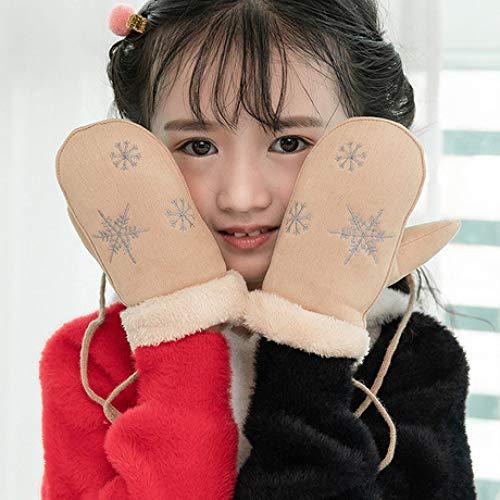 SUNHAO Gants Enfants Sac Hiver Doigt Fille Fille Mignonne Dessin animé Plus Longe Longe Gants de Coton Chaud