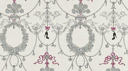 erismann-papier-tapete-my-life-jill-7304-10-pink-grau-schleifen-pumps-kinder-neu