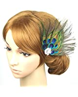 Safeinu Pearl & Rose Stretchy Hair Ponytail Band Holders