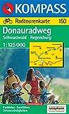 Kompass Karten, Donau-Radweg, Schwarzwald-Regensburg (KOMPASS-Radfernwege, Band 150)