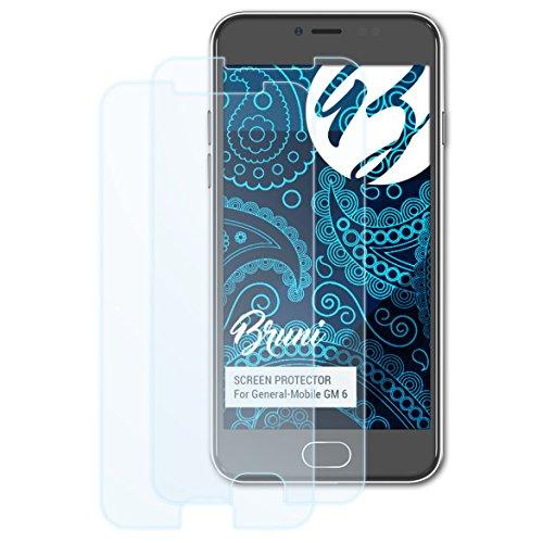 Bruni Schutzfolie kompatibel mit General-Mobile GM 6 Folie, glasklare Bildschirmschutzfolie (2X)
