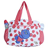 Gurukripa New Born Baby Multypurpose Mother Bag With Holder Diapper Changing Multi Comprtment For Baby Care And Maternity Handbag Messenger Bag Diaper Nappy Mama Shoulder Bag Diaper Bag For Baby Multipurpose Mother Bag Cotton Fabric (Red-2)