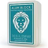 The B.I.G. Company Alum Block–99,8gram avec étui de rangement–apaisant après-rasage astringente pour fermer les pores et vous Aideront à Contrer les Saignements des Irrégularités et des coupes.