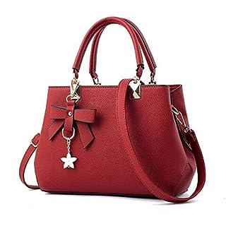 flintronic Damen Handtasche, Fashion Klassische Handtaschen für Frauen PU Leder Schulterbeutel Taschen Umhängetasche Rot